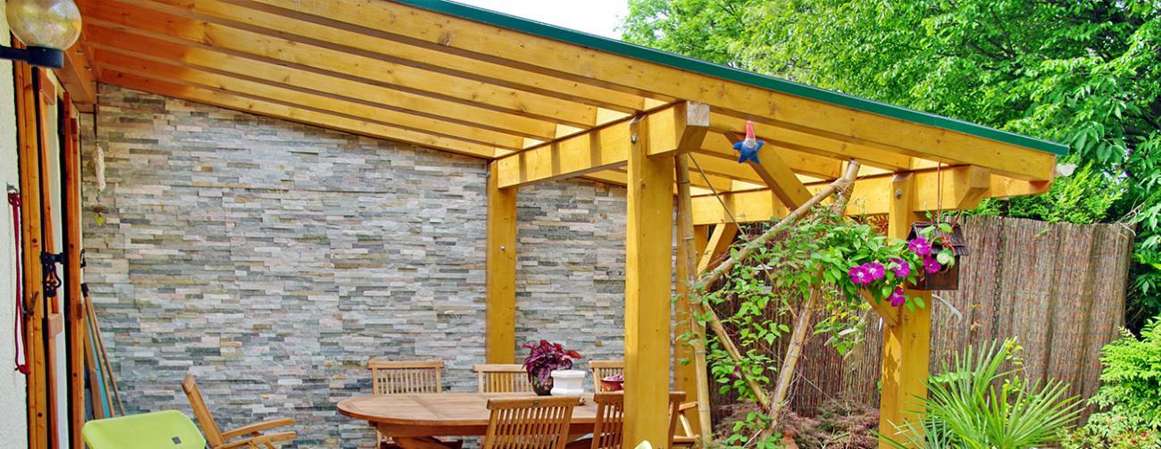 Am nagement ext rieur bois lille terrasse pergola for Chalet exterieur jardin