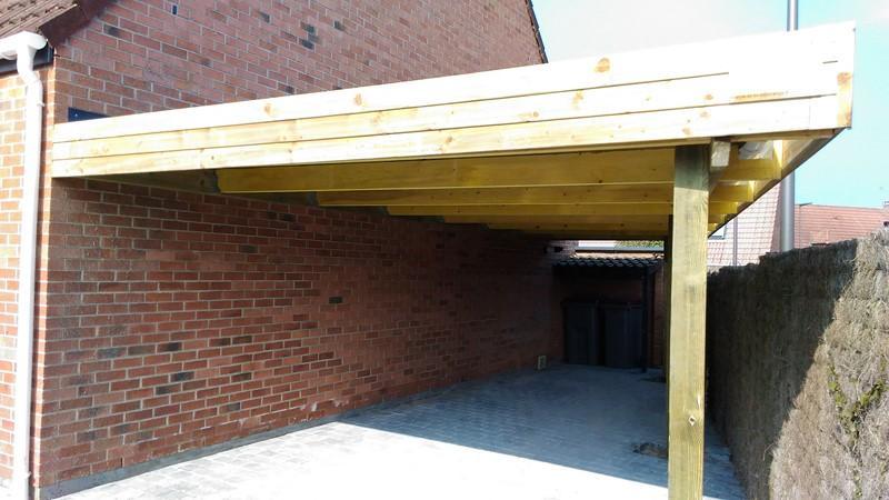 carport sur mesure style bois fresne sur escaut. Black Bedroom Furniture Sets. Home Design Ideas
